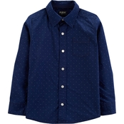 OshKosh B'gosh Little Boys Dot Button Front Shirt