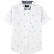 OshKosh B'gosh Little Boys Button Front Shark Shirt