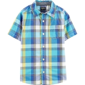 OshKosh B'gosh Little Boys Button Front Plaid Shirt
