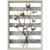 Simply Perfect Framed Cotton Ball Wall Decoration