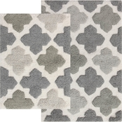 Chesapeake Alloy Moroccan Tiles 2Pc. Spa Bath Rug Set 14450 (21x34 &17 x 24)