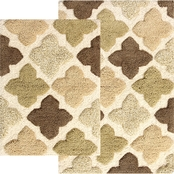 Chesapeake Merchandising Alloy Moroccan Tiles Spa Bath Rug 2 pc. Set