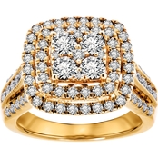10K Yellow Gold 2 CTW Diamond Engagement Ring