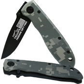 Sparta Support Our Troops Laser Engraved Knife