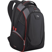 Solo Launch 17.3 in. Backpack Black/Grey with Red Trim