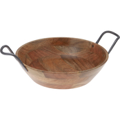 Thirstystone Wood & Iron 11.5 in. Serving Bowl