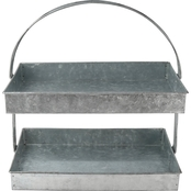 Thirstystone 2 Tier Galvanized Steel Serving Stand