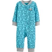 Carter's Infant Boys Cars Zip Up Sleep and Play Pajamas
