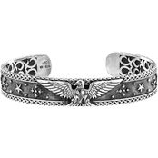 Robert Manse Men's Sterling Silver Carved Eagle Cuff Bracelet
