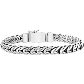Robert Manse Men's Sterling Silver Chain Bracelet