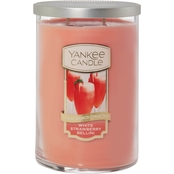 Yankee Candle White Strawberry Bellini Large 2 Wick Tumbler Candle