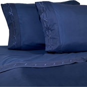 Royale Linens 4 pc. Embroidered Microfiber Sheet Set