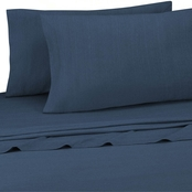 Royale Linens Brooklyn Flat Jersey Knit 4 pc. Sheet Set