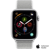 Apple Watch Series 4 GPS + Cellular Silver Aluminum Case with Seashell Sport Loop