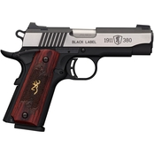 Browning 1911-380 Label 380 ACP 3.63 in. Barrel 8 Rds Pistol Black