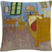 Van Gogh's Bedroom At Arles by Vincent Van Gogh Decorative Throw Pillow
