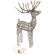 Alpine 34 in. Rattan Reindeer with Lights