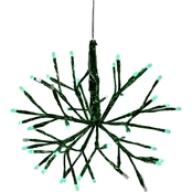 Alpine Christmas Green Twig Ornament with LED Lights