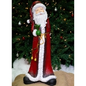 Alpine Tall Santa Christmas Statue