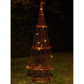 Alpine Rattan Christmas Tree Decoration