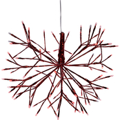 Alpine Christmas Red Snowflake Big Decor