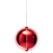 Alpine 7 in. Red Christmas Ball Ornament