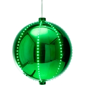 Alpine Christmas Ball Ornament with LED Lights