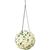 Alpine Solar Christmas Hanging Flower