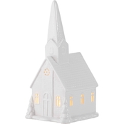 White Ceramic Church Decor