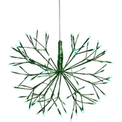 Christmas Green Snowflake Ornament