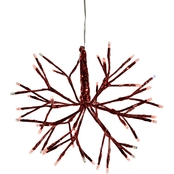 Alpine Christmas Red Twig Ornament with LED Lights