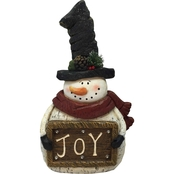 Christmas Snowman with Joy Sign