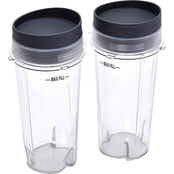 Ninja XWP002CS 16 oz. Single Serve Cups with Lids for Ninja BL660, 2-Pack
