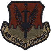 Air Force Patch Air Combat Command Velcro (OCP)