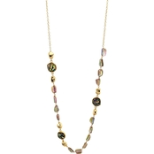 Carol Dauplaise Goldtone Long Shell 36 in. Necklace