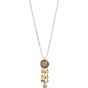 Carol Dauplaise Goldtone Shell Tassel Pendant Drop 28 in. Necklace