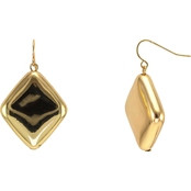 Carol Dauplaise Goldtone Diamond Shape Earrings