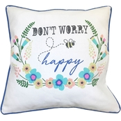 Homewear Don't Worry Bee Happy Decorative Pillow