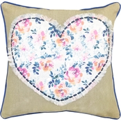 FLORAL HEART DEC PILLOW