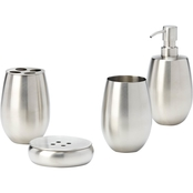 Simply Perfect Stainless Steel 4 pc. Bathroom Set