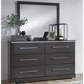 Signature Design by Ashley Steelson Dresser and Mirror Set