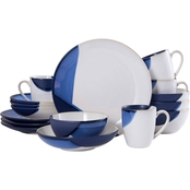 Mikasa Gourmet Basics Caden 2 Tone Blue 16 pc. Dinnerware Set