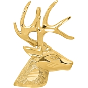 14K Yellow Gold Laser Cut Deer Charm