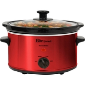 Elite Gourmet 2 qt. Oval Slow Cooker