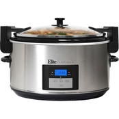 Elite Platinum 8.5 qt. Programmable Slow Cooker with Locking Lid