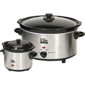 Elite  5 qt. Stainless Steel Slow Cooker with Mini Dipper