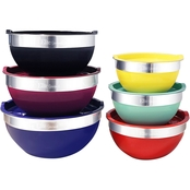 Elite Gourmet EBS-0012 Multicolor Mixing Bowl 12 pc. Set