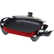 Elite 12 in. Nonstick Electric Skillet, Red