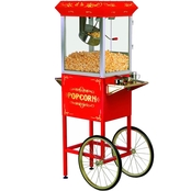 Elite Deluxe Popcorn Popper Machine with Trolley
