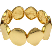 Carol Dauplaise Goldtone Metal Disc Stretch Bracelet